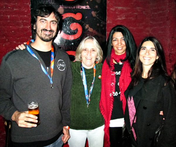 Gabriela Montagu at the Firefox Australis launch party with fellow members of the Argentine community.