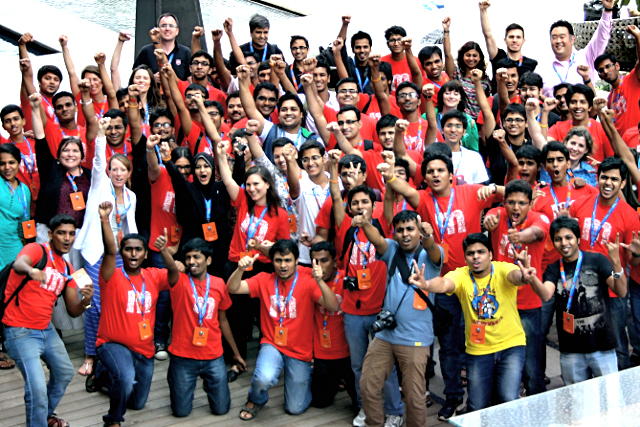 Mozilla Reps at MozCamp India Beta in June 2014.