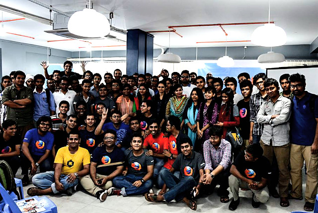 The Firefox 29 launch party organized by the Mozilla Bangladesh community on May 9, 2014.