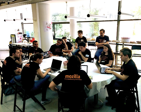 A session at the Mozilla Balkans Community Meetup in May 2015 at Romania.