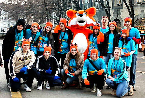 Mozilla Serbia community at the launch of Firefox OS in December 2013.