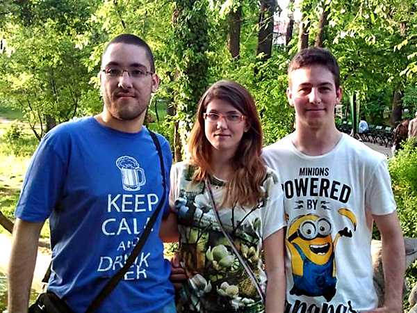 (from left to right) Vanja Tumbas, Aleksandra Uzelac and Marko Andrejić at the Mozilla Balkans Community Meetup in May 2015 at Romania.